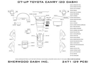2010, 2011 Toyota Camry Wood Dash Kits   Sherwood Innovations 2471 R   Sherwood Innovations Dash Kits