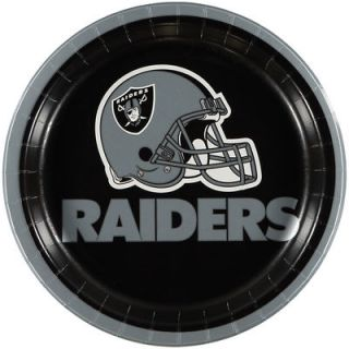 Oakland Raiders 8 Pack Lunch Plate Set