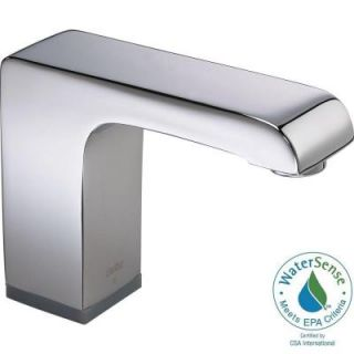 Delta Arzo Hardwire Single Hole Touchless Bathroom Faucet with Proximity Sensing Technology in Chrome 600T050