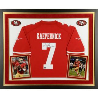Colin Kaepernick San Francisco 49ers  Authentic Deluxe Framed Autographed Red Nike Jersey with Go Niners Inscription
