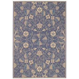 Capel Elsinore Garden Maze Blue Indoor/Outdoor Area Rug