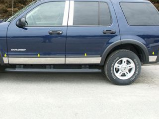 2002 2007 Ford Explorer Chrome Rocker Panels & Side Molding   ProZ TH44330   ProZ Rocker Panel Trim