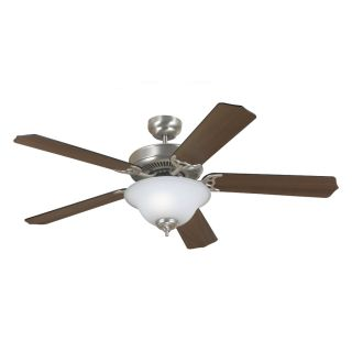 Sea Gull Lighting Quality Max Plus 52 in Brushed Nickel Downrod or Flush Mount Ceiling Fan with Light Kit