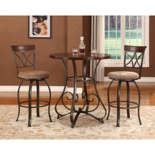 Powell 3 Piece Hamilton Pub Table   Brown