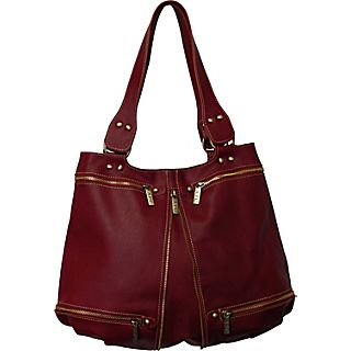 AmeriLeather Rila Top Zip Leather Tote