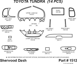 2003 Toyota Tundra Wood Dash Kits   Sherwood Innovations 1512 N50   Sherwood Innovations Dash Kits