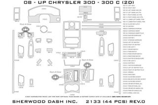 2010 Chrysler 300 Wood Dash Kits   Sherwood Innovations 2133 R   Sherwood Innovations Dash Kits