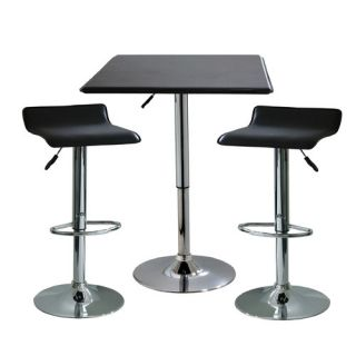Buffalo Tools AmeriHome I 3 Piece Adjustable Height Pub Table Set