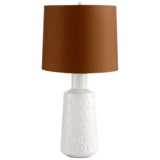 Filament Design Prospect 27 in. White Glaze and Brown Retro Art Table Lamp 05210