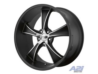 "17"" American Racing VN805 BLVD Black Machined Wheel 17x8 5x4.75 VN80578034706N"