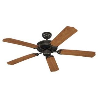 Sea Gull Lighting Quality Max Collection 52 in. Heirloom Bronze 5 Blade Ceiling Fan 15030 782