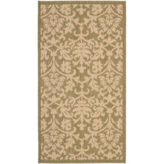 Resorts Area Indoor/Outdoor Rug, Olive/Natural