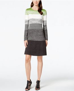 Jessica Howard Heathered Colorblock Sweater Dress   Dresses   Women