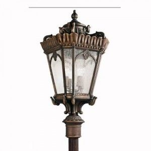 Kichler 9565LD Outdoor Light, European Post Mount 4 Light Fixture   Londonderry
