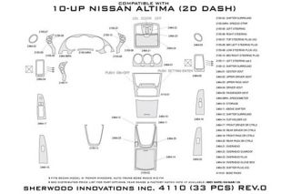 2010, 2011, 2012 Nissan Altima Wood Dash Kits   Sherwood Innovations 4110 R   Sherwood Innovations Dash Kits