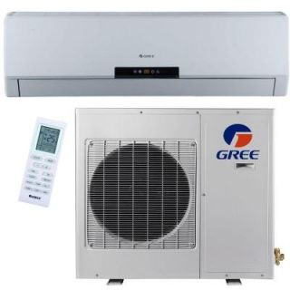GREE Premium Efficiency 12,000 BTU (1 Ton) Ductless (Duct Free) Mini Split Air Conditioner   Inverter, Heat, Remote 208 230V NEO12HP230V1A