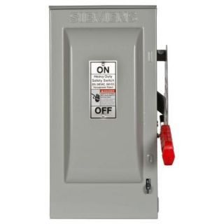 Siemens Heavy Duty 30 Amp 240 Volt 3 Pole Outdoor Fusible Safety Switch with Neutral HF321NR