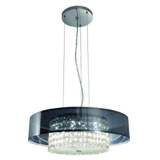 BAZZ Glam Cobalt Collection 6 Light Charcoal Hanging Chandelier LU3419CS
