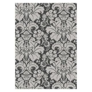 Radici Usa Bella Area Rugs   1809 Transitional Casual Grey/Silver Large Scale Floral Damask Rug