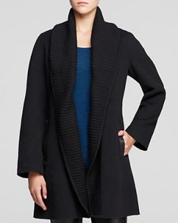 Eileen Fisher Ribbed Shawl Collar Coat