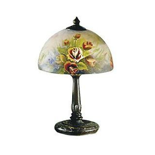 Dale Tiffany Rose Dome 16 H Table Lamp with Bowl Shade