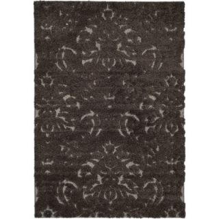Florida Shag Dark Smoke Area Rug by Safavieh
