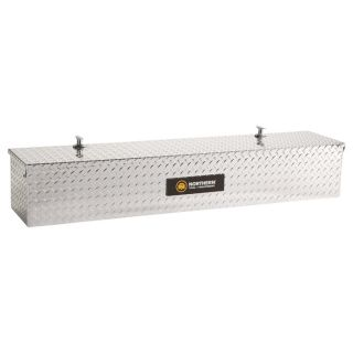 Aluminum Flush-Mount Side-Bin Truck Box — Diamond Plate, A48 1/2in.; B12 1/2in.; C10 1/2in.  Side Mount Boxes