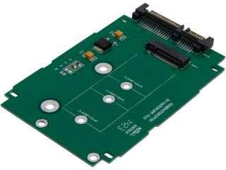 "SYBA M.2 NGFF to 2.5"" SATAIII Card with Full & Low Profile Brackets Model SI ADA40083"