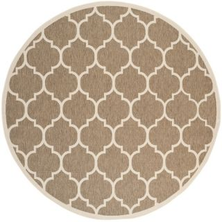 Safavieh Indoor/ Outdoor Courtyard Trellis Pattern Brown/ Bone Rug (7