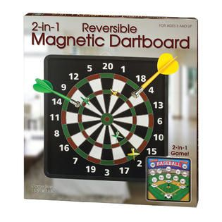 WESTMINSTER INC. 2 in 1 Reversible Magnetic Dartboard   Toys & Games