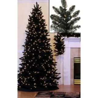 10' Pre Lit Slim Black Ashley Spruce Artificial Christmas Tree   Clear Lights