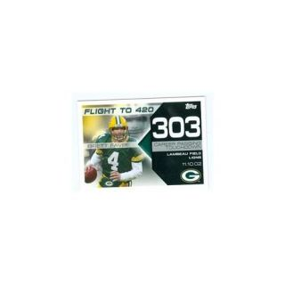 Autograph Warehouse 103538 Brett Favre Football Card Green Bay Packers 2008 Topps No. Bf 303