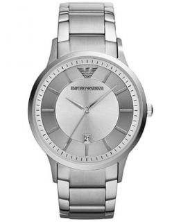 Emporio Armani Mens Stainless Steel Bracelet Watch 43mm AR2478