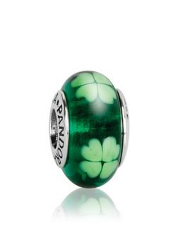 PANDORA Charm   Murano Glass & Sterling Silver Kiss Me, I'm Irish, Moments Collection