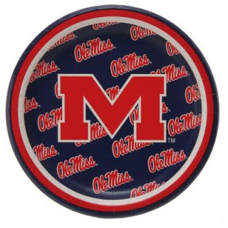 Ole Miss Rebels 8 Pack Lunch Plate Set