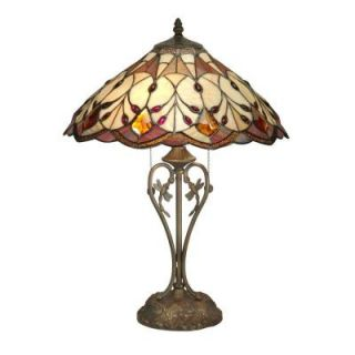 Radionic Hi Tech Nevaeh 23.75 in. Bronze Hand Rolled Art Glass Table Lamp DT_TL_TT70699_RHT