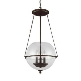 Sea Gull Lighting Havenwood 3 Light Autumn Bronze Indoor Pendant 6511903 715