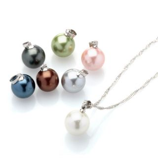 Multi color Pearl Interchangeable Necklace Box Set   16710524