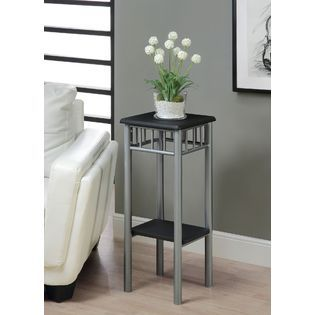 Monarch Specialties ACCENT TABLE   BLACK / SILVER METAL   Home