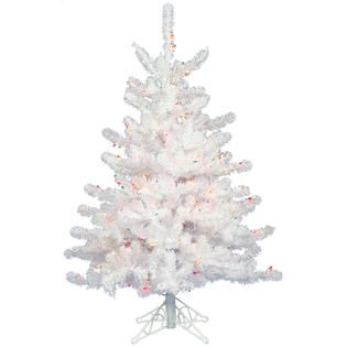 Vickerman 3 x 24 Prelit Crystal White Spruce Artificial Christmas