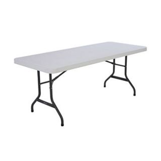 Lifetime 6 Commercial Grade Folding Table, White Granite   4 pack