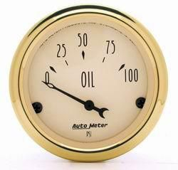 Auto Meter   Golden Oldies Oil Pressure Gauge