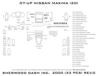 2007, 2008 Nissan Maxima Wood Dash Kits   Sherwood Innovations 2000 N50   Sherwood Innovations Dash Kits