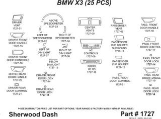 2004 2010 BMW X3 Wood Dash Kits   Sherwood Innovations 1727 CF   Sherwood Innovations Dash Kits