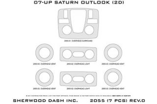 2010 Saturn Outlook Wood Dash Kits   Sherwood Innovations 2055 R   Sherwood Innovations Dash Kits