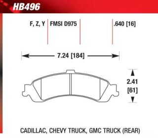 Hawk HB496Y.640   Rear Pads   Full Set   Brake Pads