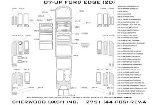 2010 Ford Edge Wood Dash Kits   Sherwood Innovations 2751 R   Sherwood Innovations Dash Kits