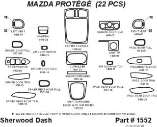 2003 Mazda Protege Wood Dash Kits   Sherwood Innovations 1552 CF   Sherwood Innovations Dash Kits