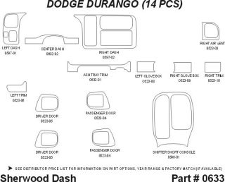 1998 Dodge Durango Wood Dash Kits   Sherwood Innovations 0633 N50   Sherwood Innovations Dash Kits