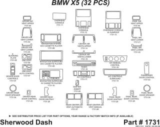 2000 2006 BMW X5 Wood Dash Kits   Sherwood Innovations 1731 N50   Sherwood Innovations Dash Kits
